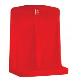 RED DOUBLE FIRE EXTINGUISHER STAND C/W RECESSED BASE
