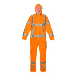 NORG MULTI HYDROSOFT FLAME RETARDANT ANTI-STATIC HIGH VISIBILITY WATERPROOF COVERALL