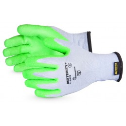 DEXTERITY® 10-GAUGE COTTON/POLY KNIT GLOVE WITH HI-VIZ LATEX PALM LINED WITH PUNKBAN