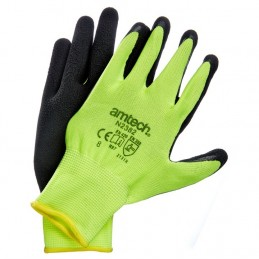Hi-Vis Latex Coated Gloves Medium (Size:8)