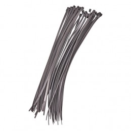 40pc (4.8 X 380mm) Cable Tie - Silver