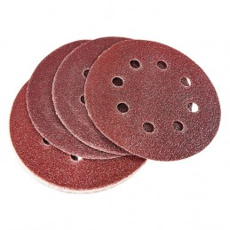 10pc Circular Sanding Sheet Set (P60 Grit) (Dia 115mm)
