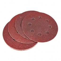 10pc Circular Sanding Sheet Set (P80 Grit) (Dia 115mm)