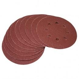 10pc Circular Sanding Sheet Set (P120 Grit, Dia 125mm)