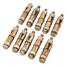10pc M6 X 50mm Expansion Bolts