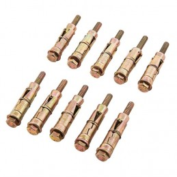10pc M6 X 60mm Expansion Bolts