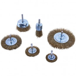 6pc Wire Wheel Brush Set