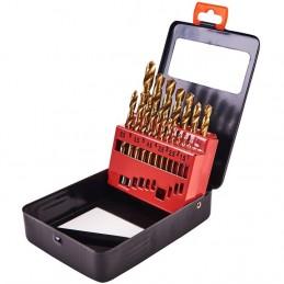 19pc Titanium Coated Drill Set