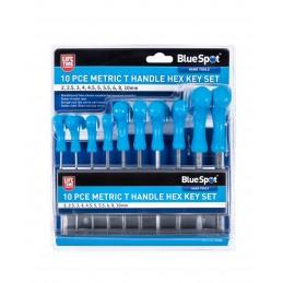 BlueSpot 10 PCE Metric T Handle Hex Key Set (2-10mm)