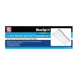 BlueSpot 12 PCE Metric Ratchet Spanner Set (8-19mm)