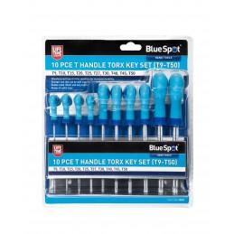 BlueSpot 10 PCE T Handle Torx Key Set (T9-T50)