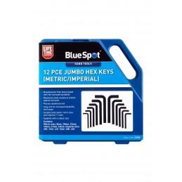 BlueSpot 12 PCE Jumbo Hex Keys (Metric/Imperial)