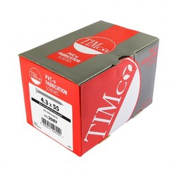 Timco Window Fabrication Screws - Countersunk with Ribs - PH - Single Thread - Gimlet Point - Yellow - 4.3 x 20 - Box of 1000