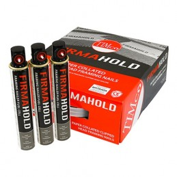 Timco FirmaHold Collated Clipped Head Nails & Fuel Cells - Trade Pack - Ring Shank - Bright - 2.8 x 50/3CFC - Box of  3300