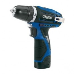 Draper Storm Force&174 10.8V Power Interchange Rotary Drill (+1x 1.5Ah Battery/Charger)